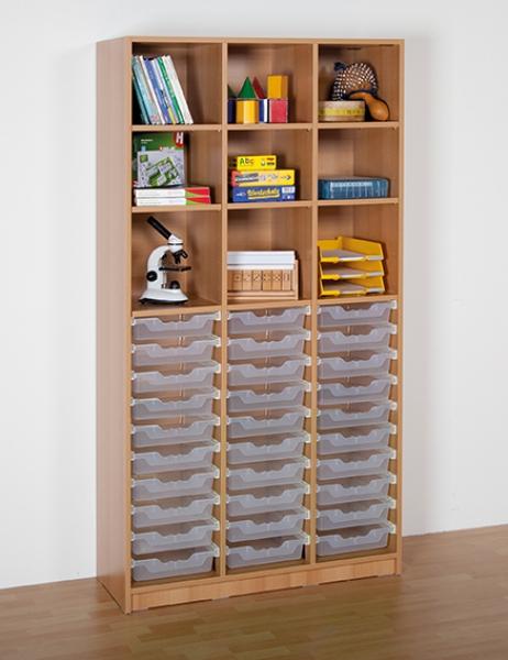 regal mit 30 ergo tray boxen. Black Bedroom Furniture Sets. Home Design Ideas